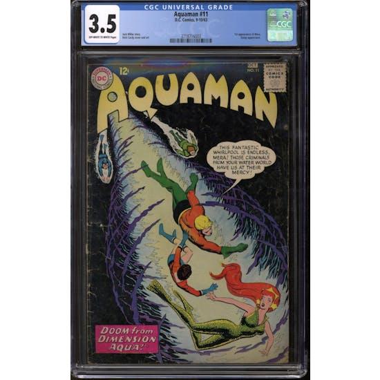 Aquaman #11 CGC 3.5 (OW-W) *3718716003*