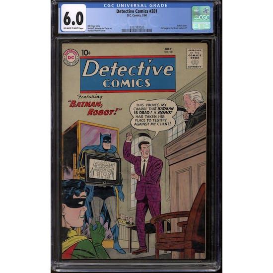 Detective Comics #281 CGC 6.0 (OW-W) *3727787020*