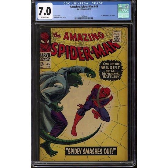 Amazing Spider-Man #45 CGC 7.0 (OW) *3728640001*