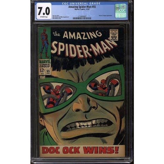 Amazing Spider-Man #55 CGC 7.0 (OW) *3728640007*