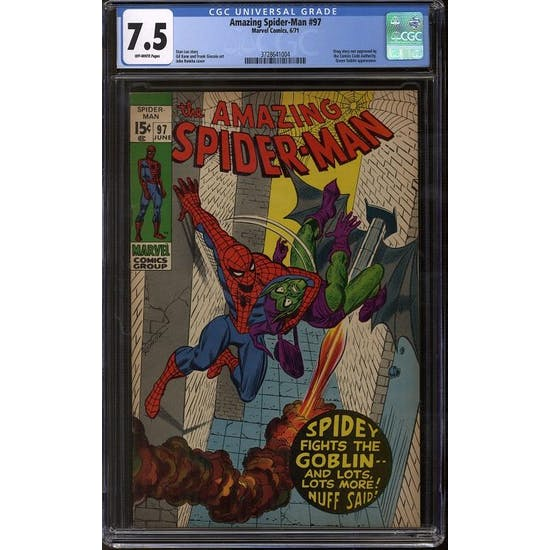 Amazing Spider-Man #97 CGC 7.5 (OW) *3728641004*