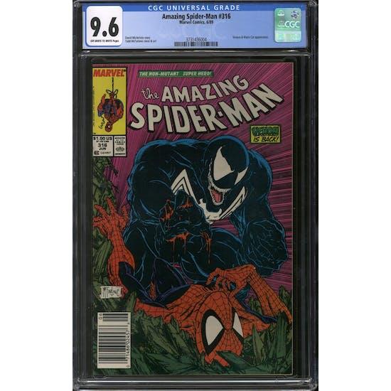 Amazing Spider-Man #316 CGC 9.6 (OW-W) Newsstand *3731436004*