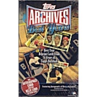 2002 Topps Archives Best Years Baseball Hobby Box