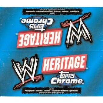 2006 Topps WWE Heritage Chrome Wrestling Box