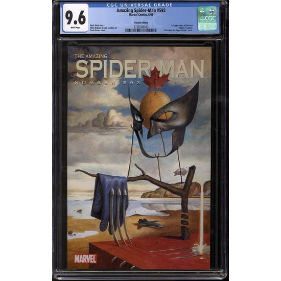 Amazing Spider-Man #592 CGC 9.6 (W) Variant by Paolo Rivera *3736549013*
