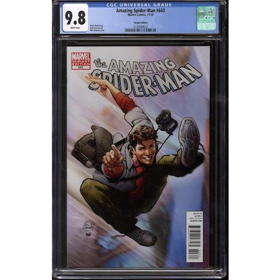 Amazing Spider-Man #643 CGC 9.8 (W) Variant Edition *3736549022*