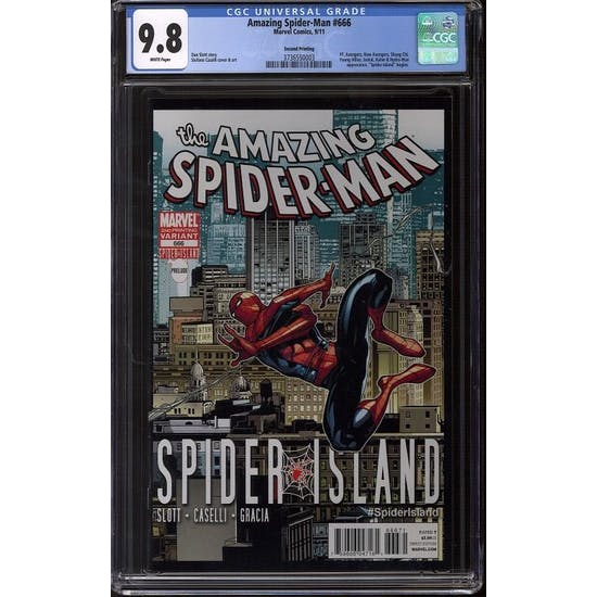 Amazing Spider-Man #666 CGC 9.8 (W)  2nd Print Variant *3736550003*