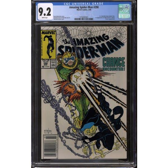 Amazing Spider-Man #298 Newsstand Variant CGC 9.2 (W) *3750092001*