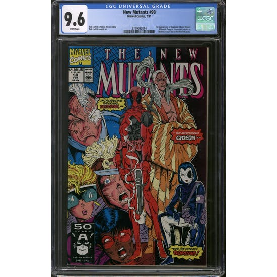 New Mutants #98 CGC 9.6 (W) *3750092014*