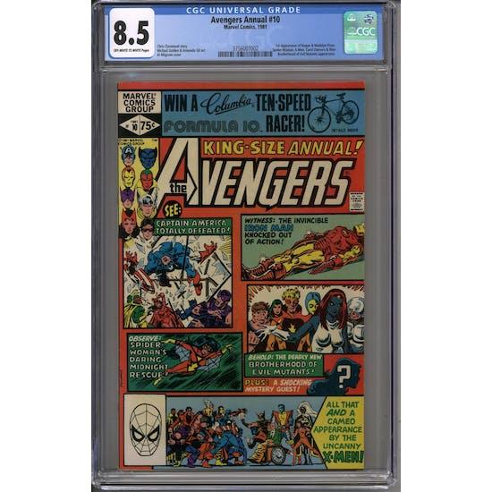 Avengers Annual #10 CGC 8.5 (OW-W) *3756007002*