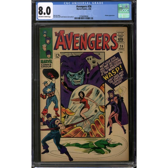 Avengers #26 CGC 8.0 (OW-W) *3756009006*