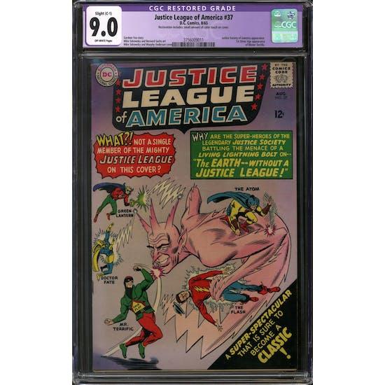 Justice League of America #37 CGC 9.0 Slight (C-1) Restoration (OW) *3756009011*