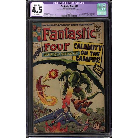 Fantastic Four #35 CGC 4.5 Slight (C-1) Restoration (OW) *3756009021*