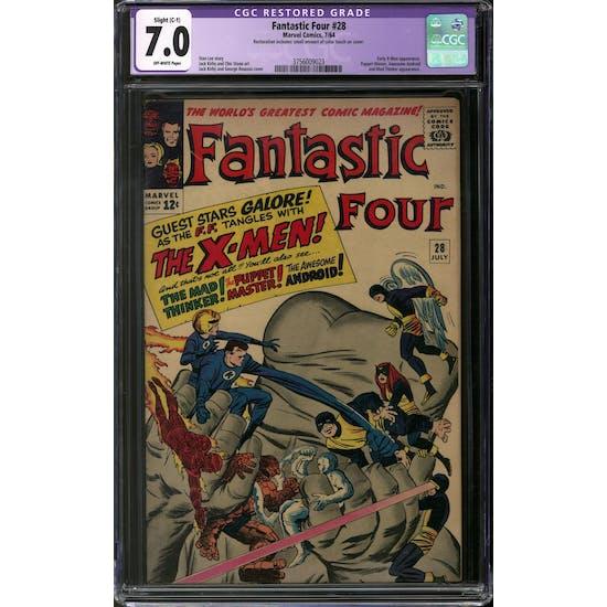 Fantastic Four #28 CGC 7.0 Slight (C-1) Restoration (OW) *3756009023*