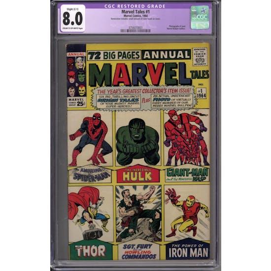 Marvel Tales #1 CGC 8.0 Slight (C-1) Restoration (C-OW) *3756010001*