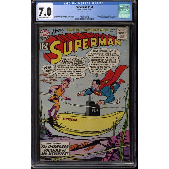 Superman #154 CGC 7.0 (OW-W) *3756172014*