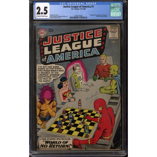 Justice League of America #1 CGC 2.5 (OW-W) *3756175002*