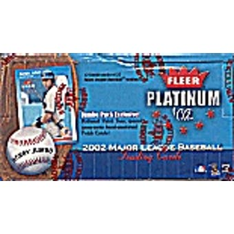 2002 Fleer Platinum Baseball Jumbo Box