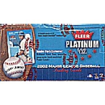2002 Fleer Platinum Baseball Jumbo Box