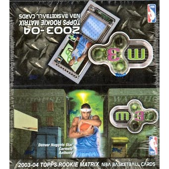 2003/04 Topps Rookie Matrix Basketball 20 Pack Box