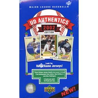 2002 Upper Deck Authentics Baseball Hobby Box