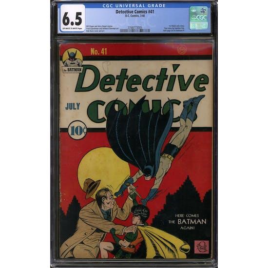 Detective Comics #41 CGC 6.5 (OW-W) *3768773005*