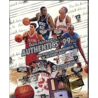 1999/00 Press Pass Authentics Basketball Hobby Box
