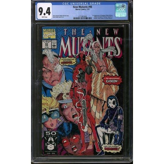 New Mutants #98 CGC 9.4 (W) *3771903004*