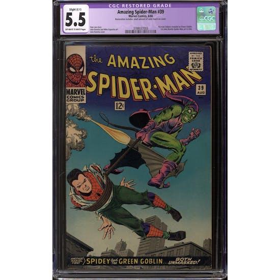 Amazing Spider-Man #39 CGC 5.5 Slight (C-1) Restoration (OW-W) *3788037003*