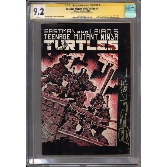 Teenage Mutant Ninja Turtles #1 CGC 9.2 Kevin Eastman Signature Series w/ Sketch (W) *3791850001*