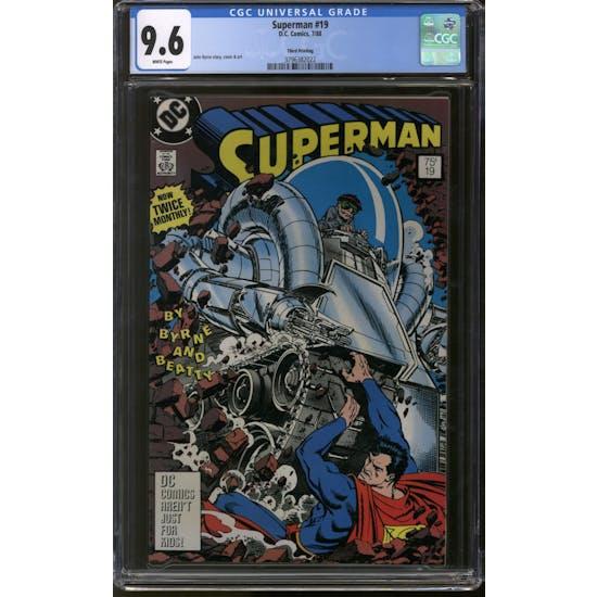 Superman #19 CGC 9.6 (W) Third Printing *3796382022*