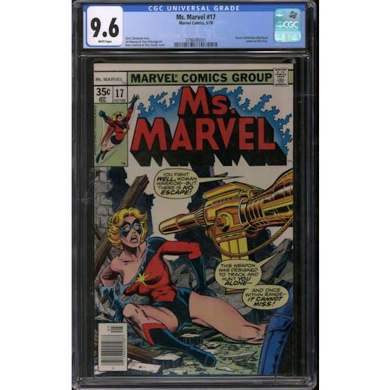 Ms. Marvel #17 CGC 9.6 (W) *3796395001*