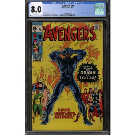 Avengers #87 CGC 8.0 (OW) *3796396005*