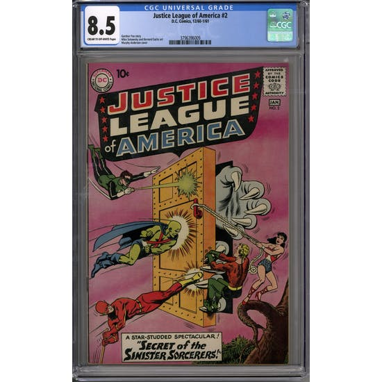 Justice League of America #2 CGC 8.5 (C-OW) *3796396009*