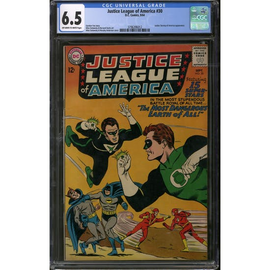 Justice League of America #30 CGC 6.5 (OW-W) *3796396012*