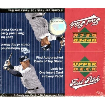 2006 Upper Deck First Pitch Baseball 36 Pack Box