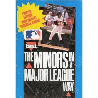 1990 Best The Minors in a Major League Way Baseball Wax Box