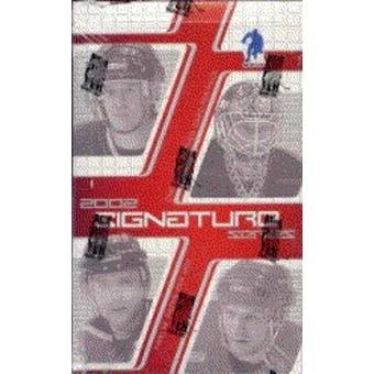 2001/02 Be A Player Signature Series Hockey Hobby Box