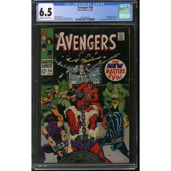 Avengers #54 CGC 6.5 (OW-W) *3810196002*
