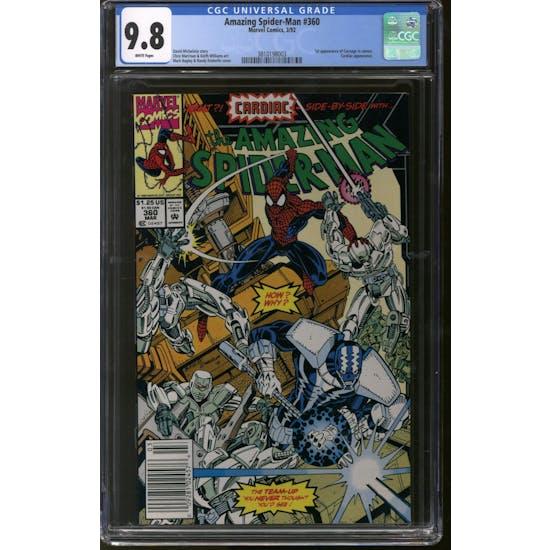 Amazing Spider-Man #360 CGC 9.8 (W) Newsstand *3810198003*