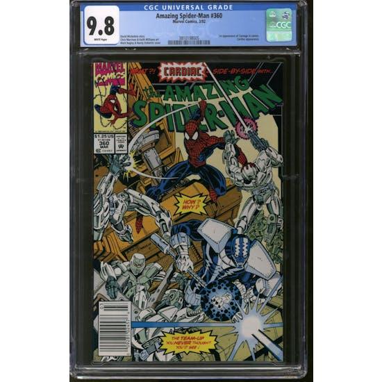 Amazing Spider-Man #360 CGC 9.8 (W) Newsstand *3810198005*
