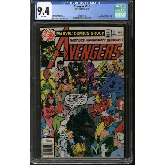 Avengers #181 CGC 9.4 (W) *3810198018*