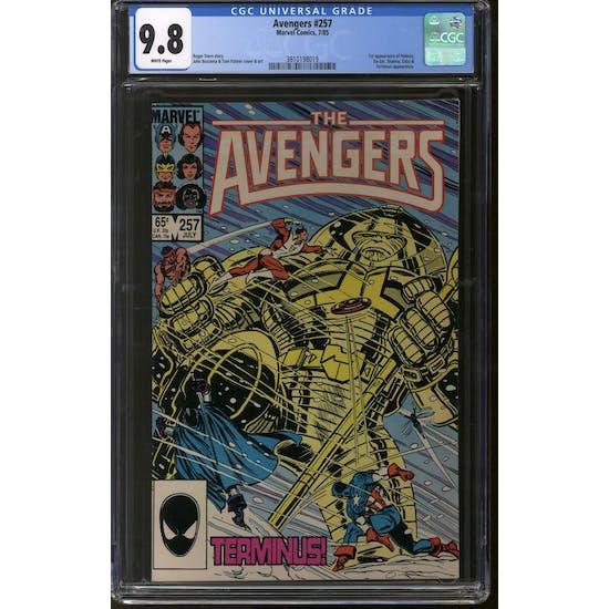 Avengers #257 CGC 9.8 (W) *3810198019*