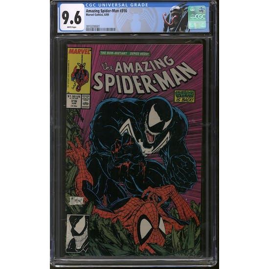 Amazing Spider-Man #316 CGC 9.6 (W) Venom Label *3810200001*
