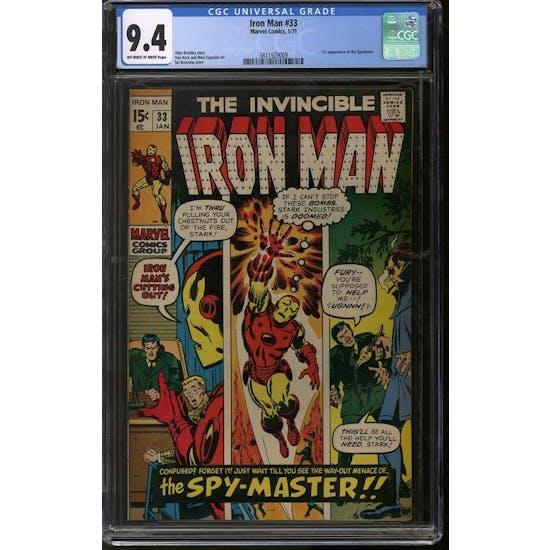 Iron Man #33 CGC 9.4 (OW-W) *3811929009*