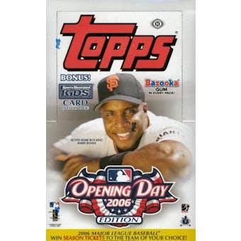 2006 Topps Opening Day Baseball Hobby Box