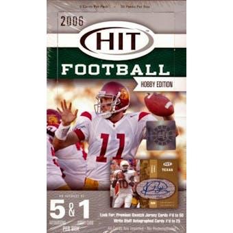 2006 Sage Hit Football Hobby Box