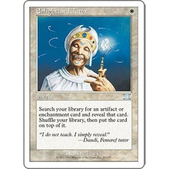 Magic the Gathering 6th Edition Single Enlightened Tutor - SLIGHT PLAY (SP)