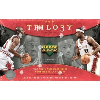 2005/06 Upper Deck Trilogy Basketball Hobby Box