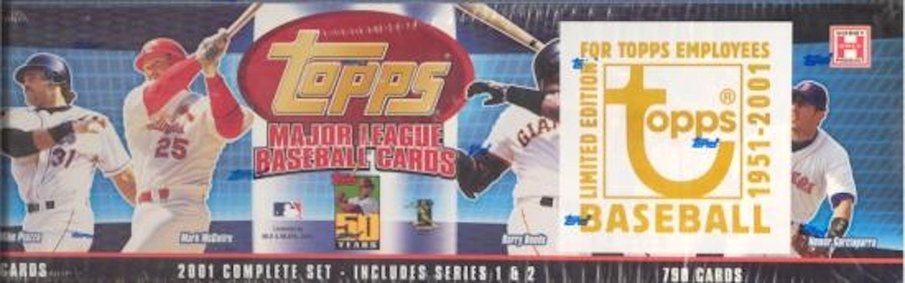 2001 Topps Baseball Factory Set Box Employee Edition